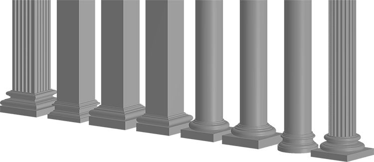 Foamworks columns architectural decorative lightweight eps for Exterior decorative columns